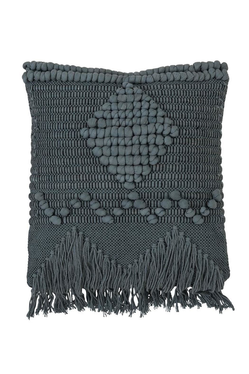 Bloomingville Blue Macrame Pillow - Main Image