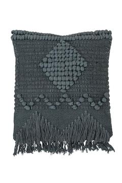 Bloomingville Blue Macrame Pillow - Alternate List Image