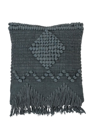 Bloomingville Blue Macrame Pillow - Product Mini Image