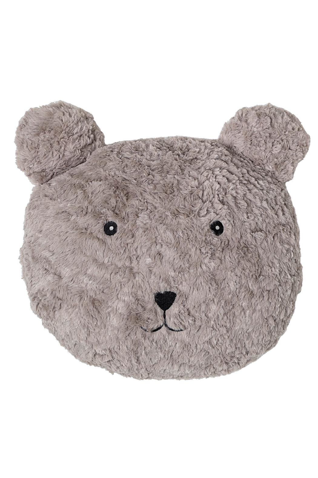 Bloomingville Brown Teddy Cushion - Front Cropped Image