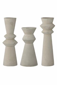 Shoptiques Product: Concrete Candlestick Holders