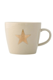 Bloomingville Gold Star Mug - Front cropped