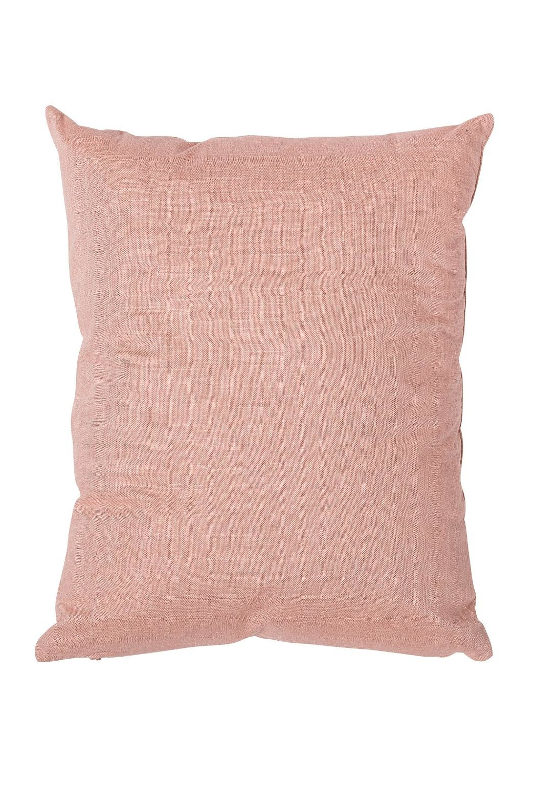 Bloomingville Pink Cotton Cushion - Front Full Image