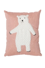 Bloomingville Pink Cotton Cushion - Front cropped