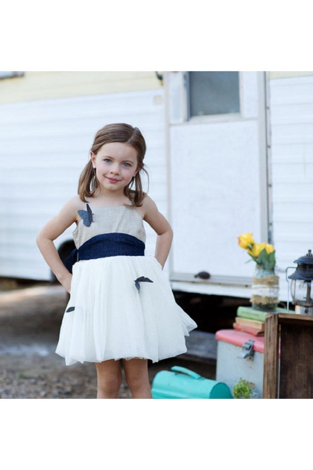 Magpie and Mabel Blossom Butterfly Dress - Front Full Image