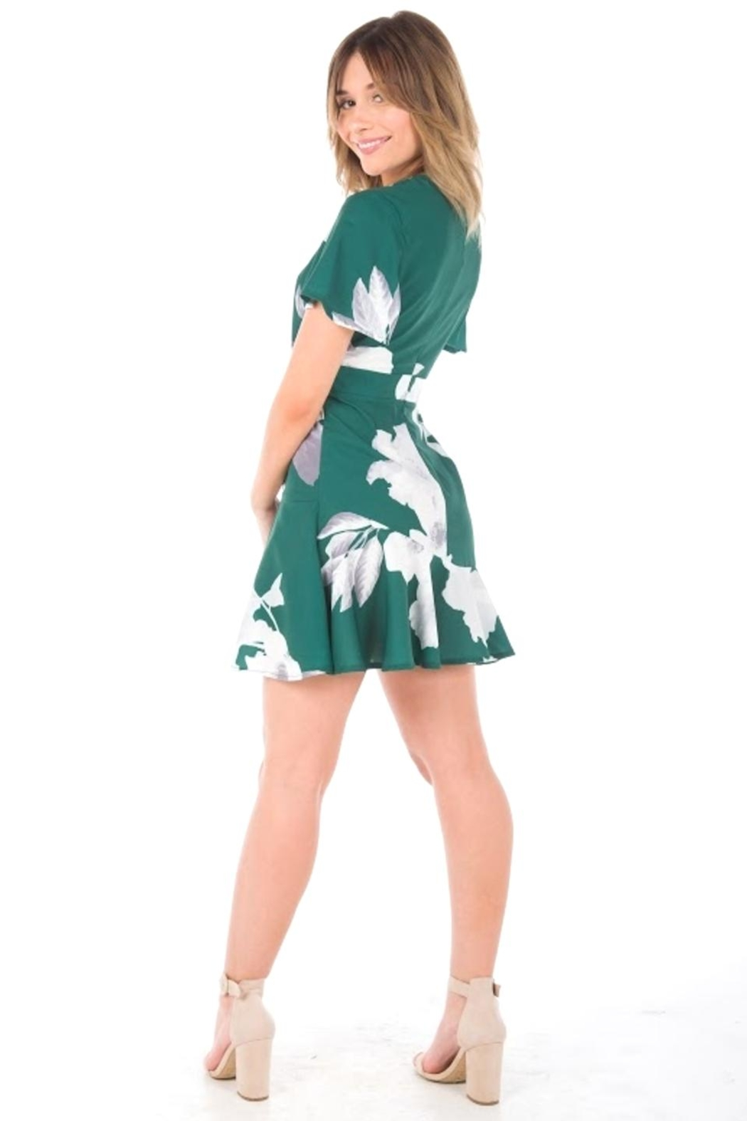 Blossom Forest Mini Dress - Side Cropped Image