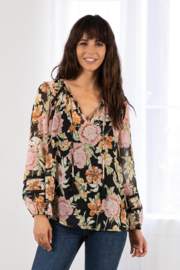 Lovestitch Blossom Sheer Peasant Top - Product Mini Image