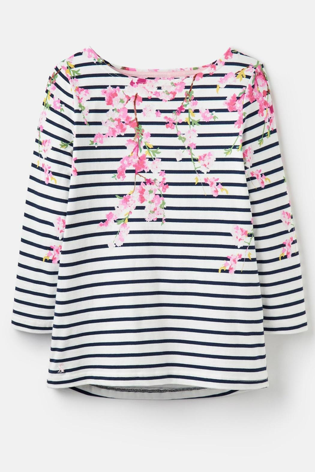 Joules Blossom Stripe Top - Side Cropped Image
