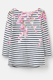 Joules Blossom Stripe Top - Side cropped