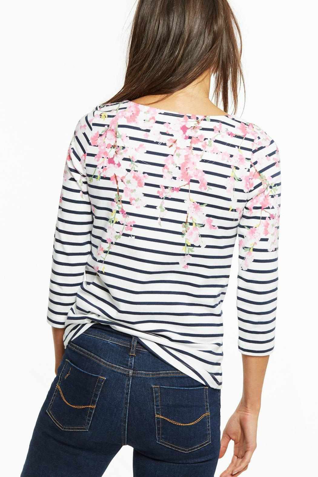Joules Blossom Stripe Top - Front Full Image
