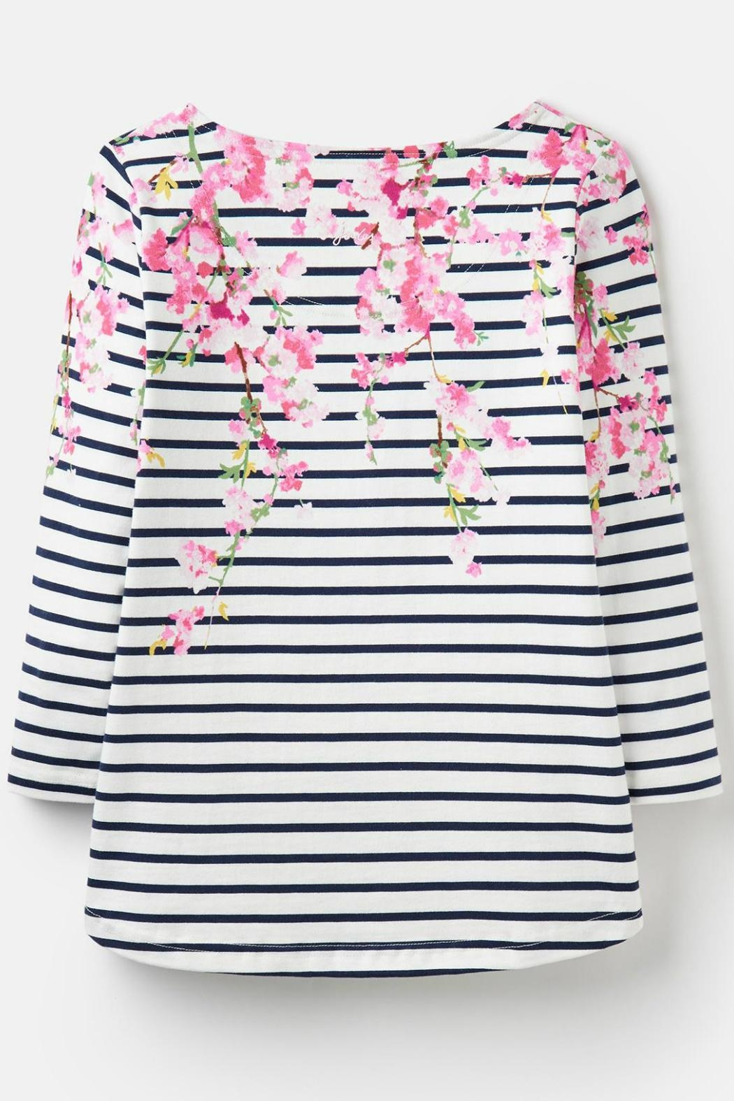 Joules Blossom Stripe Top - Back Cropped Image