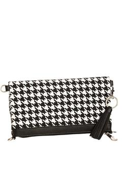 Blossom Boutique Houndstooth Canvas Bag - Product List Image