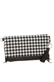 Blossom Boutique Houndstooth Canvas Bag - Product Mini Image