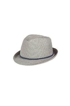 Blossom Boutique Metallic Straw Fedora - Alternate List Image
