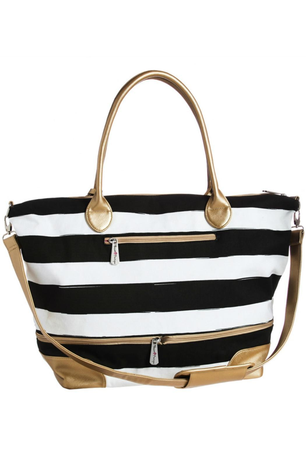 Blossom Boutique Striped Tote Bag Front Cropped Image