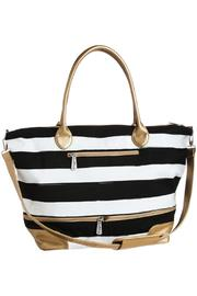 Blossom Boutique Striped Tote Bag - Front cropped