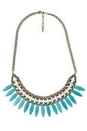 Blossom Boutique Turquoise Collar Necklace - Product Mini Image
