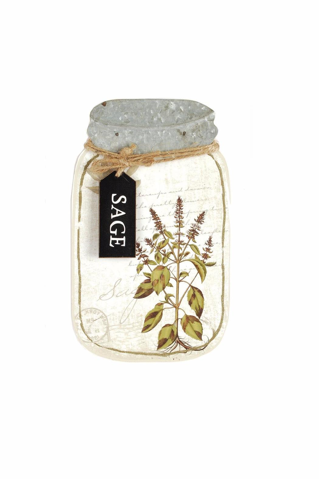 Blossom Bucket Sage Jar Wall-Hanging - Main Image