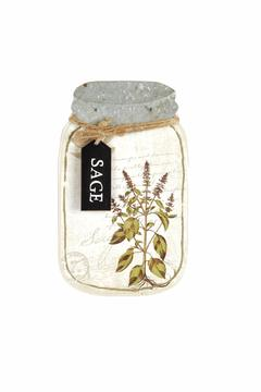 Blossom Bucket Sage Jar Wall-Hanging - Alternate List Image