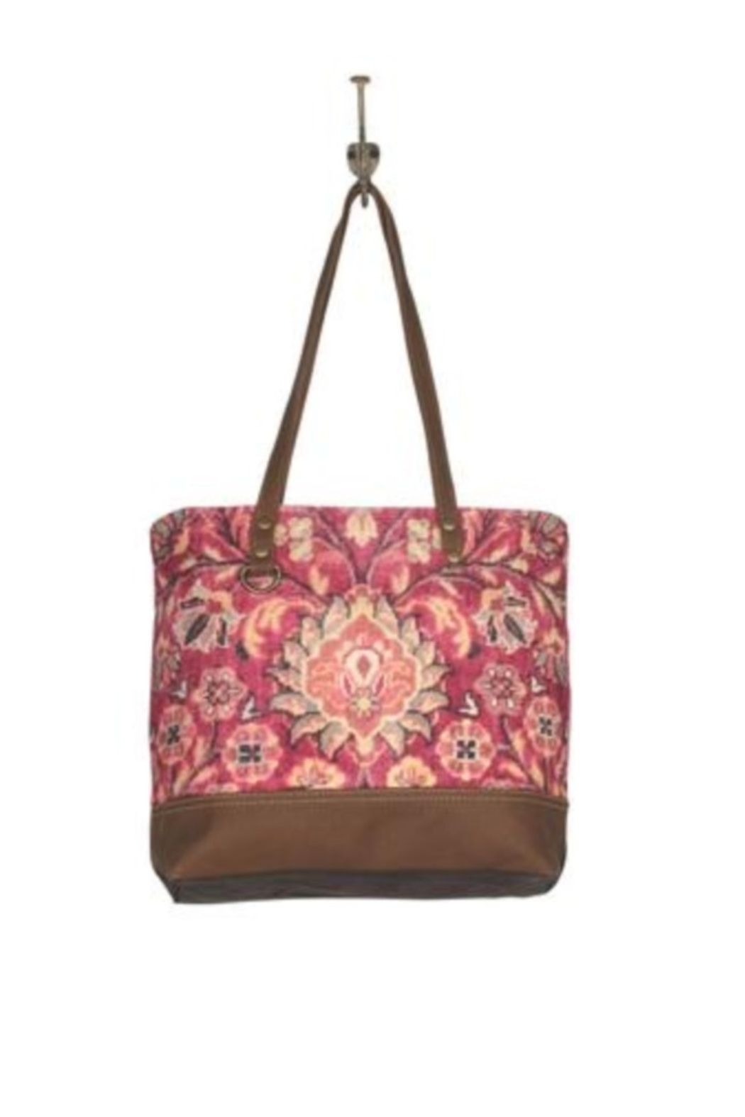 Myra Bags Blossomy Pink Tote Bag - Front Cropped Image