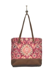 Myra Bags Blossomy Pink Tote Bag - Front cropped