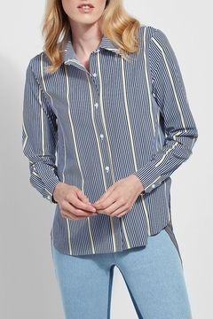 Lyssé Slim button down striped blouse - Product List Image