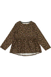 Wheat Blouse Petrine - Dark Army Flowers - Front cropped