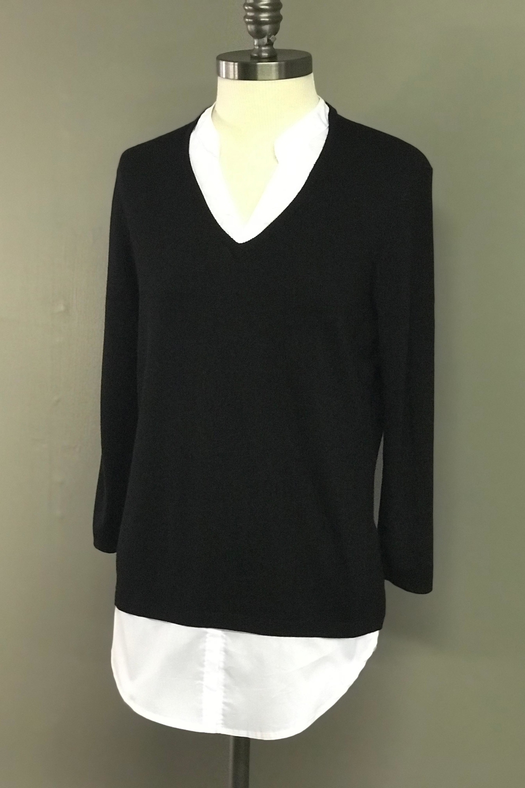 Charlie B. Blouse/sweater Combo - Front Full Image