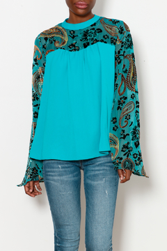 Shoptiques Product: Blouse with Floral and Paisley Detailing
