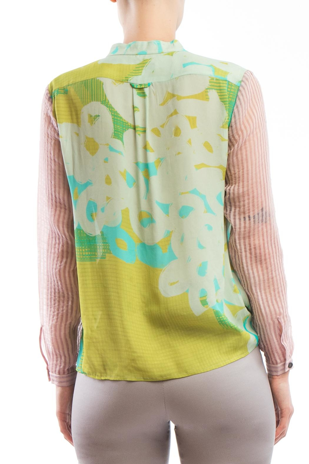 Clara Kaesdorf Blouse Yellow Pink - Side Cropped Image