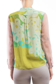 Clara Kaesdorf Blouse Yellow Pink - Side cropped