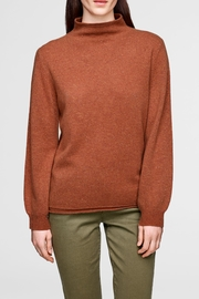 White + Warren Blouson Tweed Rollneck - Product Mini Image