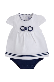 Mayoral Blousy Cap-Sleeve Onesie - Front cropped