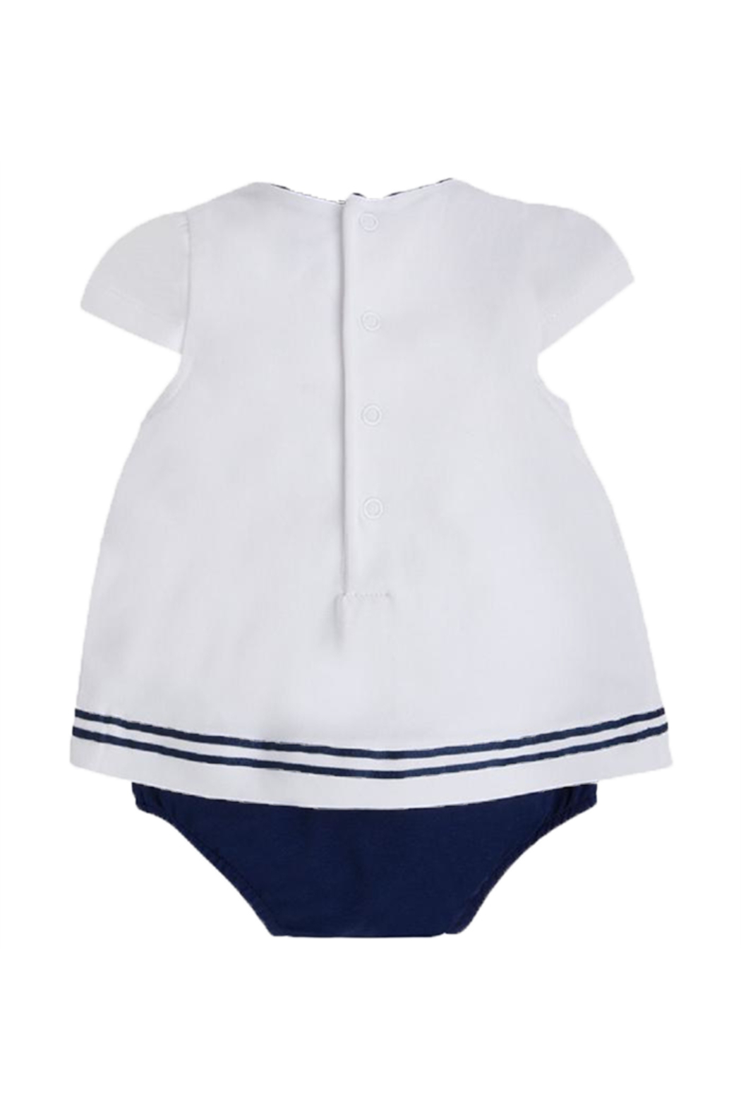 Mayoral Blousy Cap-Sleeve Onesie - Front Full Image