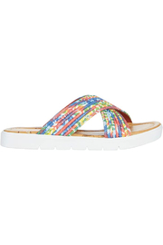 Blowfish Brielle Sandal In Rainbow Tiedye Smokey Twill - Product Mini Image