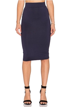 BLQ Basiq Navy Pencil Skirt - Product List Image