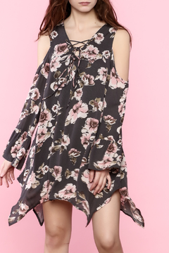 Shoptiques Product: Long Sleeve Floral Dress