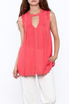 Shoptiques Product: Coral Sleeveless Top