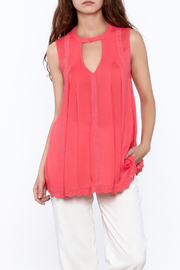 Blu Pepper Coral Sleeveless Top - Product Mini Image
