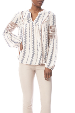 Shoptiques Product: Crochet Panel Blouse
