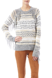 Blu Pepper Fringe Aztec Sweater - Product Mini Image