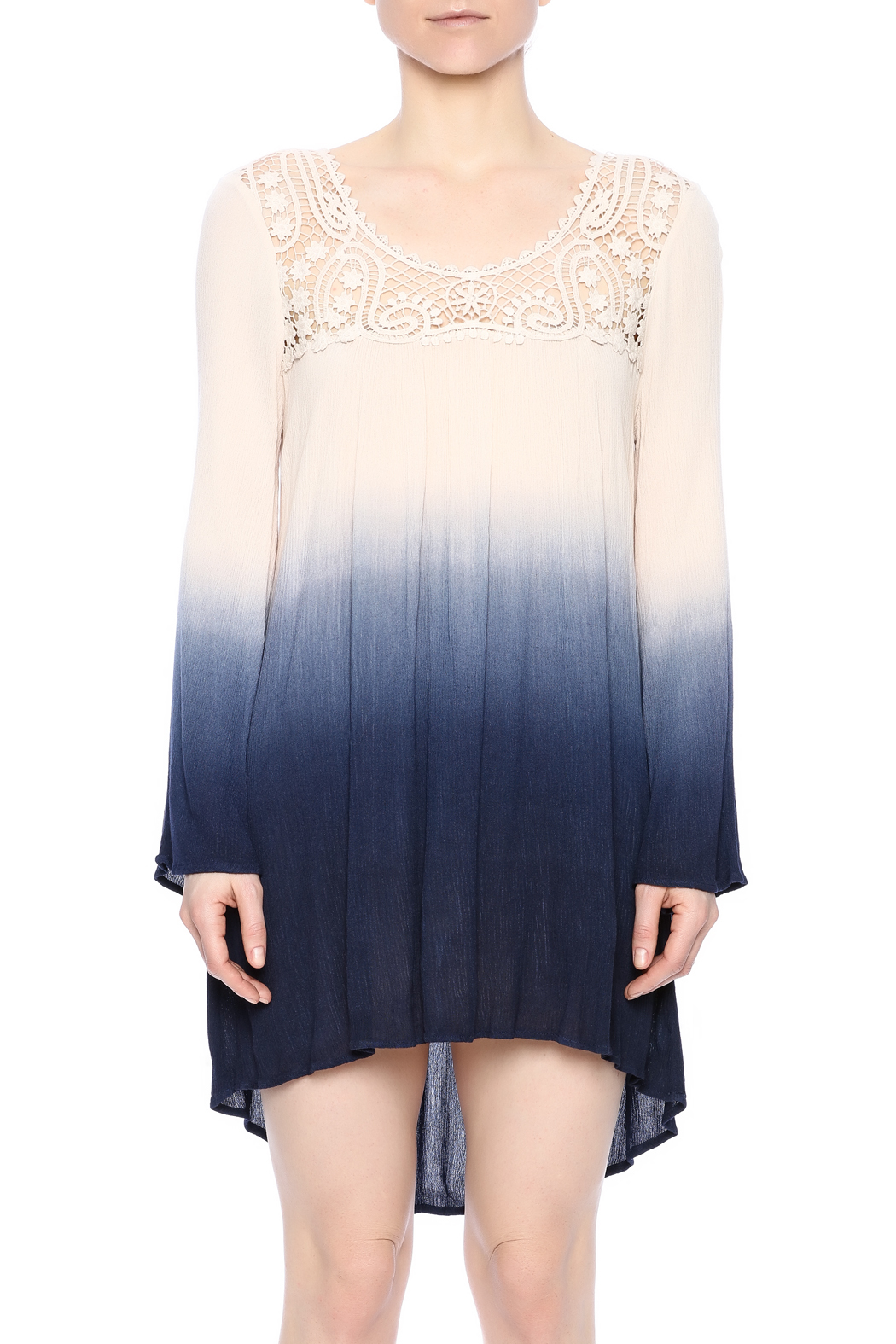 Blu Pepper Ombre Dress - Side Cropped Image