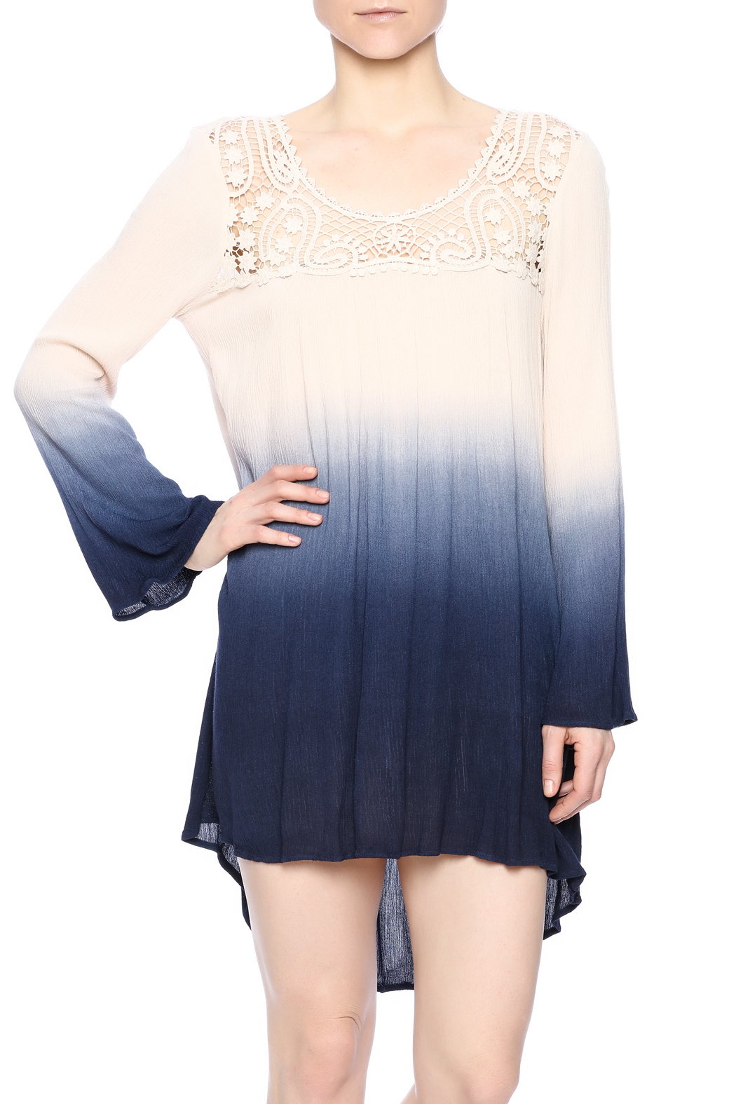 Blu Pepper Ombre Dress - Front Cropped Image