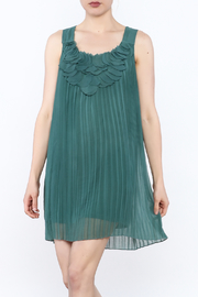 Blu Pepper Pleated Tunic Dress - Front cropped