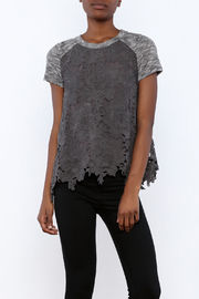 Blu Pepper Short Sleeve Grey Top - Product Mini Image