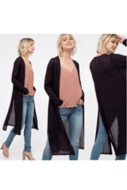 blu Pepper  Side Slit Cardigan - Product Mini Image