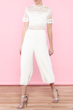 Shoptiques Product: White Crochet Jumpsuit