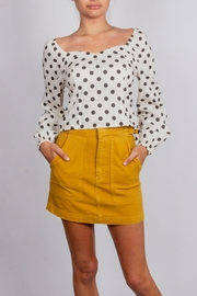Blu Pepper 90's Long-Sleeve Polka-Dot-Top - Product Mini Image
