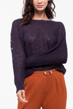 Blu Pepper Andrea Button Sweater - Product List Image