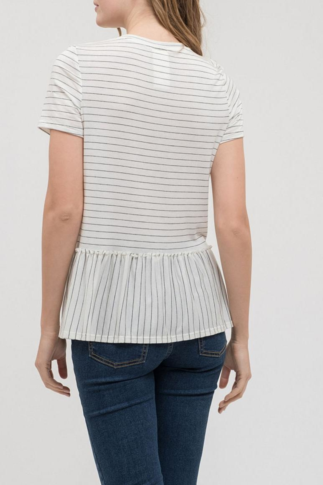 Blu Pepper Baby Striped Tee - Front Full Image